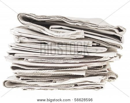 Untidy Newpapers Pile