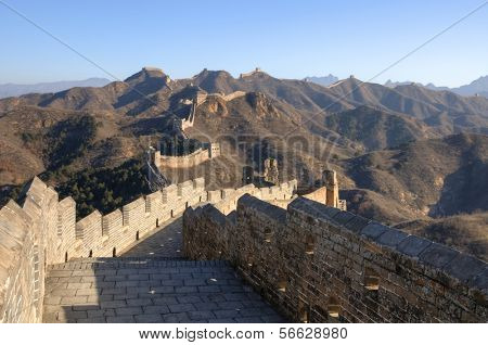 Chinese Great Wall at Jinshanling near Beijing