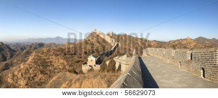 Great Wall of China at Jinshanling - Panorama