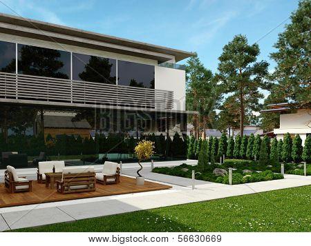 Modernes Design Haus außen