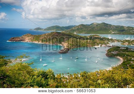 Falmouth bay - View from Shirley Heigths, Antigua