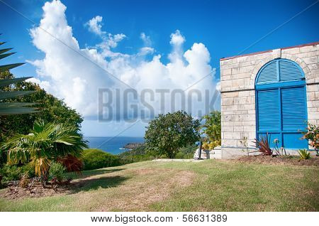 Falmouth bay - View from Dow Hill, Antigua, Caribbean