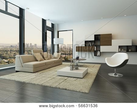 Contemporary modern living room interior