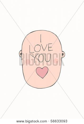 Hand drawn concept - Mr. I love you