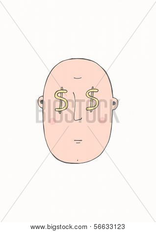 Hand drawn concept - Mr. money