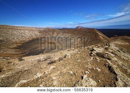 Vulcanic Timanfaya  Rock Stone In Los Volcanes