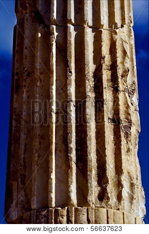 Abstract Column Piece Of Marble