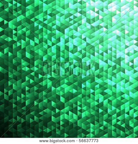 Emerald green blinking glitter background.Glittering sequins mosaic pattern.