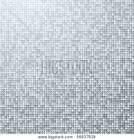White seamless shimmer background with shiny silver and black paillettes. Sparkle glitter background. Glittering sequins wall.