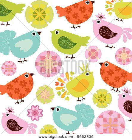 Abstract Bird Pattern