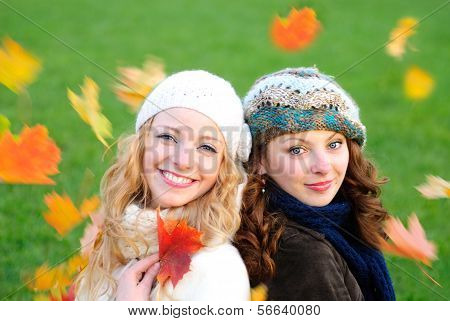 Two Girl Under The Maple
