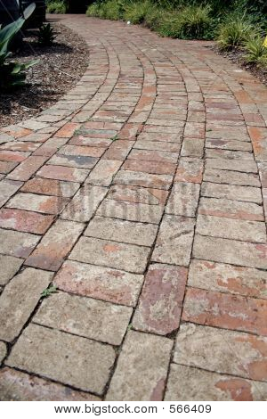 Curved Brick Path