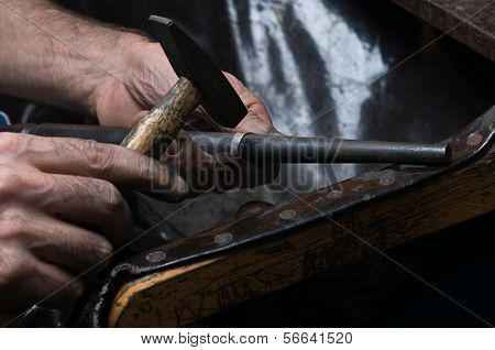 Traditional way of making silver ring