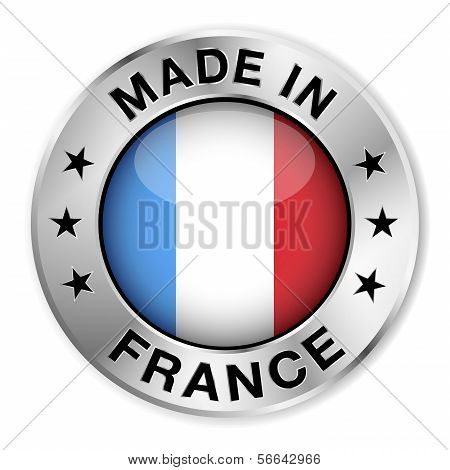 Made In France Silver Badge