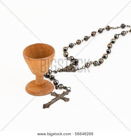 Resemblance Of Holy Grail And A Rosary