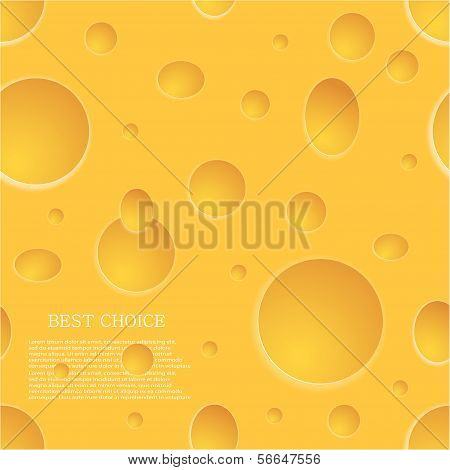 Vector seamless cheese background. Eps10