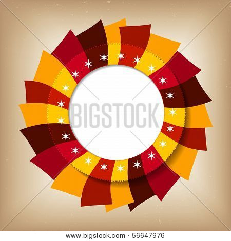 Vector round retro vintage label