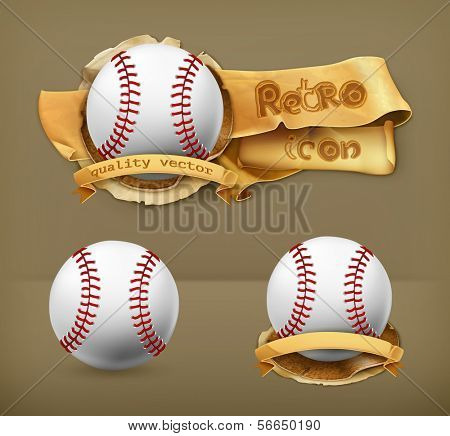 Beisebol, ícone do vetor