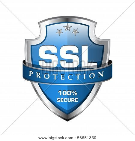 Ícone de escudo seguro SSL Protection