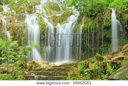 Waterfall Of Bad Urach, Germany