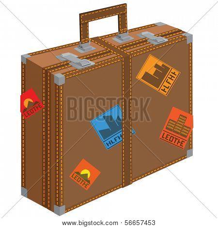 Gran maleta para viajar.