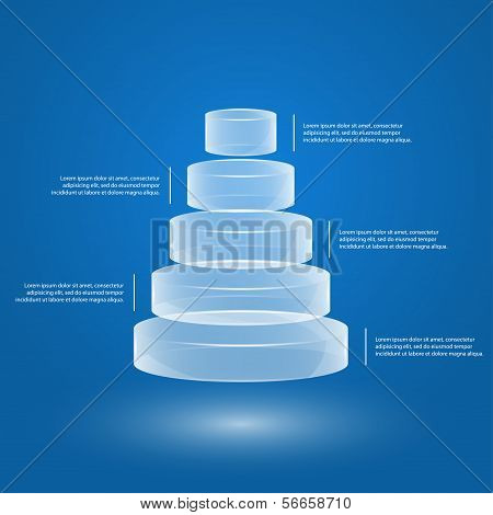 Glass Pyramid Infographic