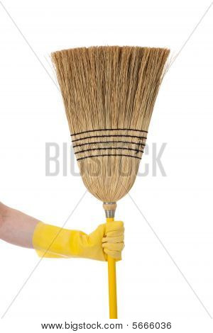Hand Holding Broom - Chore Or Housework Theme
