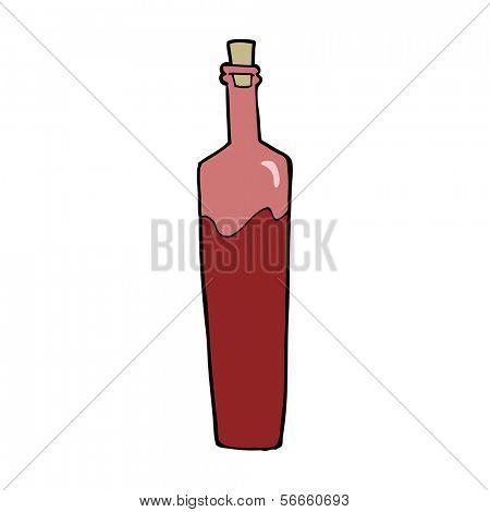 garrafa elegante dos desenhos animados