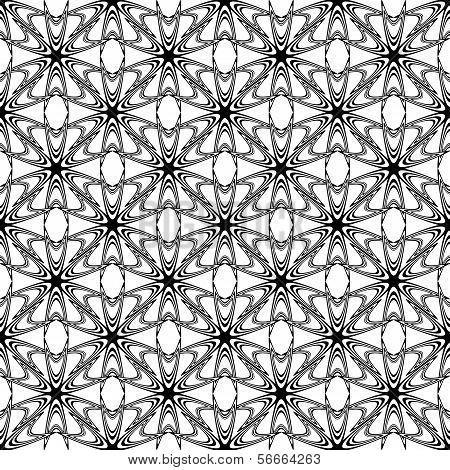 Design Seamless Monochrome Decorative Pattern. Abstract Trellis Background