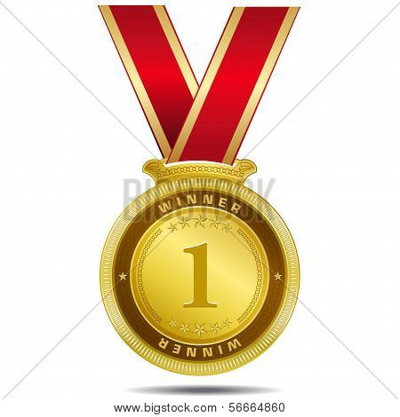 Winner Gold Medal Vector Design