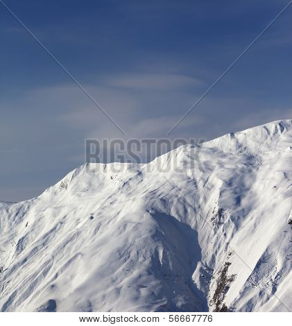 Ski Slope, Off-piste With Trace From Avalanche