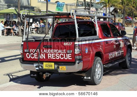 Back And Side Of Ocean Rescue Vehicle