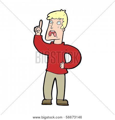 cartoon man with complaint