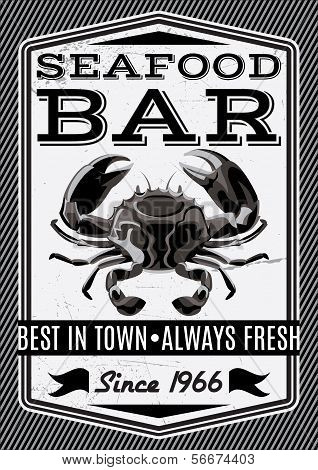 Vector Crab For Restaurant Menu