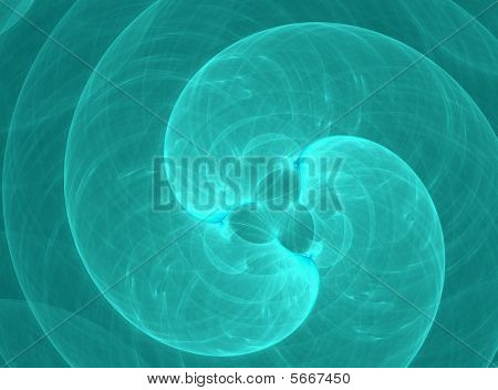 Abstract Turquoise Spiral Background