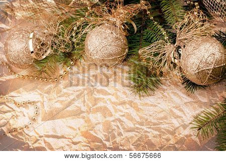 Christmas Decoration On Fir Branch
