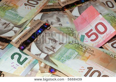 Canadian Bills ($20, $50, $100)