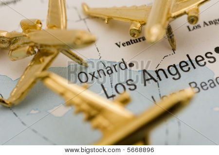 Golden Planes Over Los Angeles