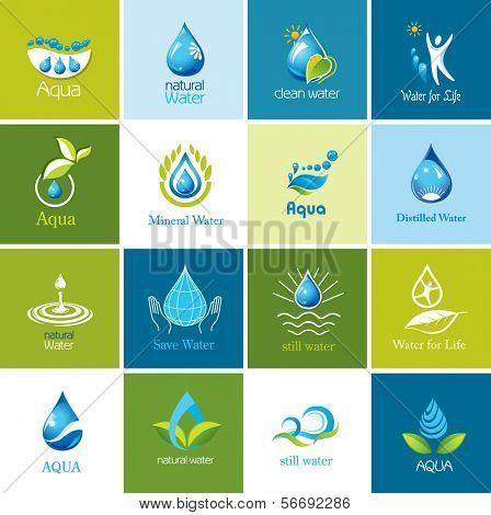 Satz von Wasser Symbole 1.