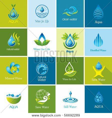 Satz von Wasser Icons 2.