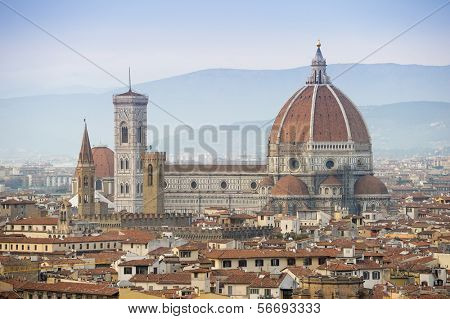 ITALY - MARCH 4: View of Florence, Italy with the Florence Cathedral.