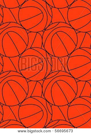 Basketball repeat pattern.
