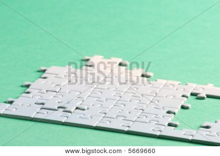 Jigsaw piece white