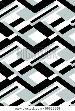 Black black and white repeat pattern.