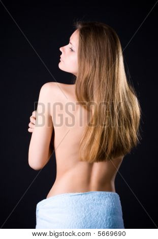Young Woman With Naked Back