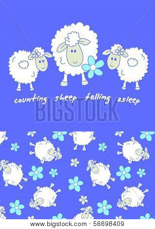 Counting sheep.