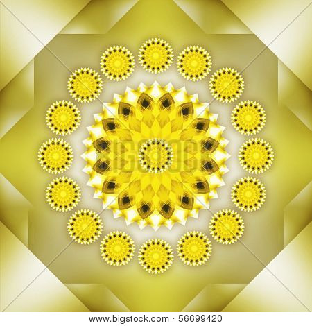 schöne geometrische ornament