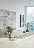 pic of stone floor  - Modern white In - JPG