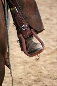 foto of bucking bronco  - a rider - JPG
