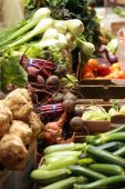 picture of farmers market vegetables  - Mixed Vegetables at the Crocker Galleria Farmer - JPG